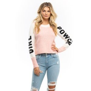 WILDFOX Girl Power Lou Crew Neck Sweater